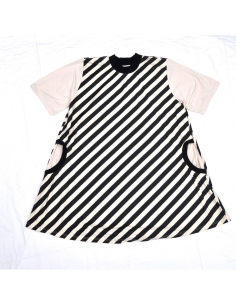 Throne stripe one-piece(karashi)