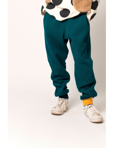 Knit bowan pants(bleu green)